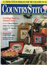 Country Stitch Monthly Journal of Cross Stitch Designs Back Issue August... - $6.00