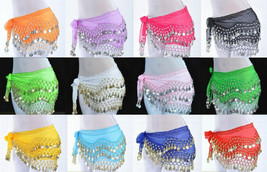 Wholesale Lot 12 pieces XL PLUS SIZE Belly Dance Hip Scarf Wrap Belt Coi... - $158.35