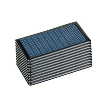 AOSHIKE 10Pcs 5V 60MA Epoxy Solar Panel Polycrystalline Solar cell for S... - $22.27