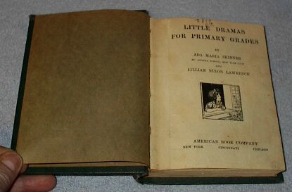 Little Dramas Book Children's Antique School Book