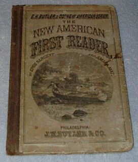 Primary image for New American First School Reader 1871 Antique Book