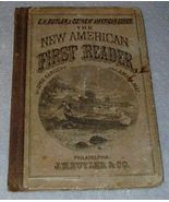 New American First School Reader 1871 Antique Book - $35.00
