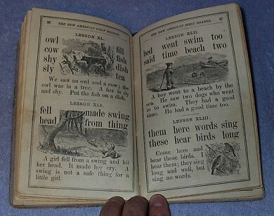 New American First School Reader 1871 Antique Book