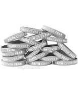 20 FAITH OVER FEAR Wristbands - Quality Debossed Color Filled Silicone B... - $16.71