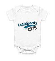 Gift Idea Personalised Customised Established 1979 Body Suit Baby Grow V... - $10.46