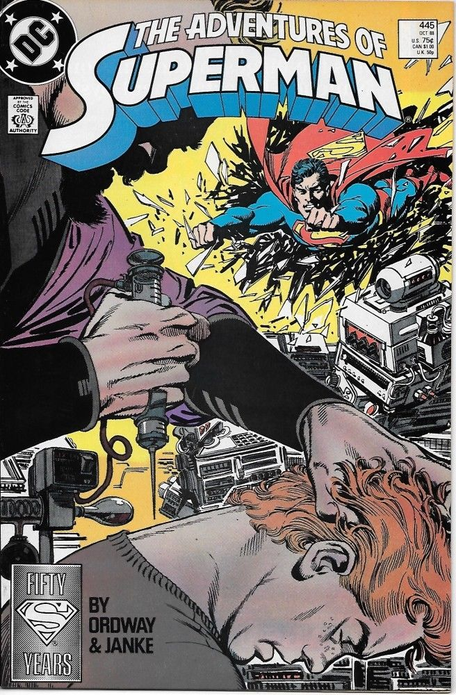 Primary image for The Adventures of Superman Comic Book #445 DC Comics 1988 NEAR MINT UNREAD