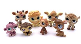 Littlest Pet Shop Jungle Safari Zoo Lot Lion Giraffes Monkeys - $27.72