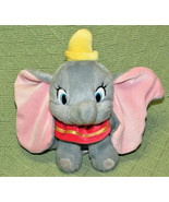"""DISNEY STORE 7"""" DUMBO THE ELEPHANT BEANBAG TOY PLUSH WITH TAG STUFFED AN... - $18.70"""