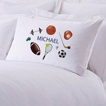 Personalized Direct Personalized Kids Name Sports Pillow Case - $8.99