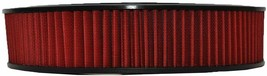 """HIGH FLOW WASHABLE & REUSABLE ROUND AIR FILTER ELEMENT REPLACEMENT 14"""" X 3"""" RED image 2"""