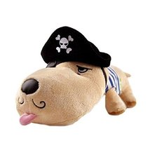PANDA SUPERSTORE Cool Pirate Puppy Plush Doll Car Ornaments Bamboo Charcoal Auto image 1