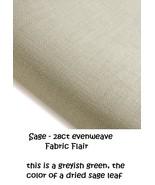 FABRIC PRE-CUT 28ct sage evenweave 12x39 Nantucket Village Series Fabric... - $24.00