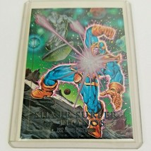 Silver Surfer vs Thanos Battle 3-D 1992 Marvel Masterpieces SkyBox Trading Card - $99.00