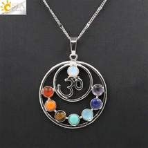 CSJA 2016 Hot SALE 7 Chakras Stones Necklace Health Amulet Healing 7 Cha... - $13.60
