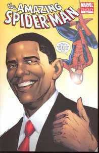 AMAZING SPIDER-MAN #583 BARACK OBAMA 2ND PRINTING VARIANT (REELECTED AGAIN)