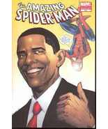 AMAZING SPIDER-MAN #583 BARACK OBAMA 2ND PRINTING VARIANT (REELECTED AGAIN) - $99.99