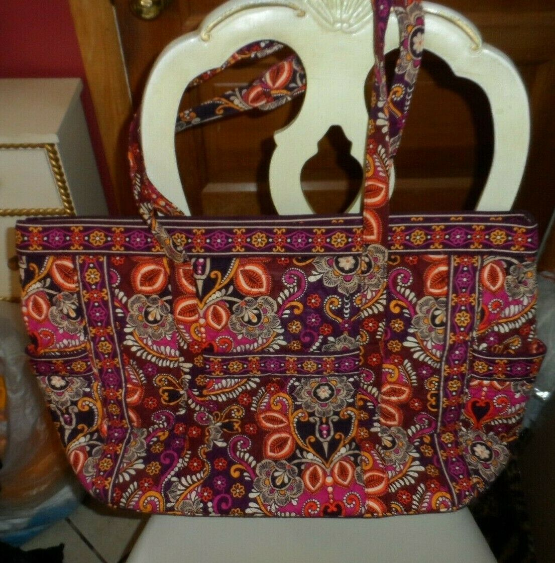 Primary image for Vera Bradley Get Carried Away Bag in Safari Sunset EUC