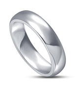 Mens Wedding Anniversary Band Ring 14k White Gold Over 925 Sterling Real... - $62.99