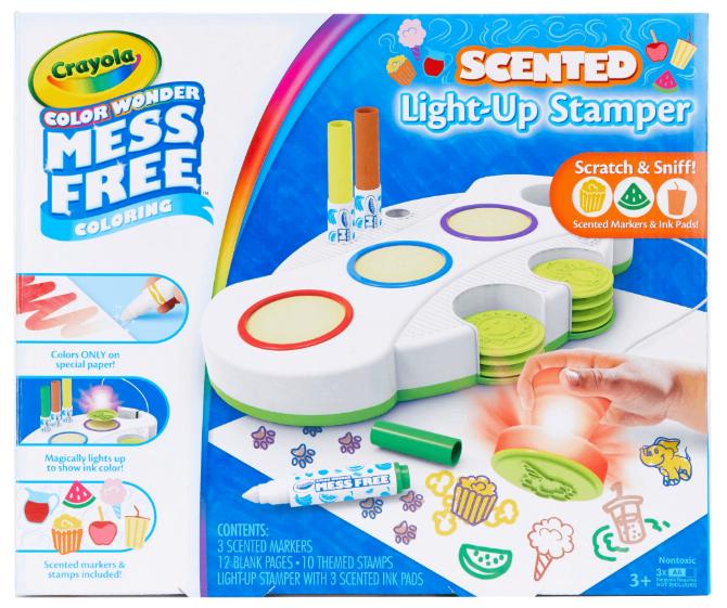 Crayola Color Wonder Light Up Stamper with Scented Inks Gift for Kids Ages 3-6