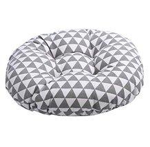 "Japanese Style Linen Yoga Bolster Tatami Floor Round Cushion, 17"" - $19.33"