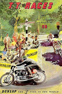 Primary image for 1953 Isle of Man TT Motorcycle Race - Promotional Advertising Poster
