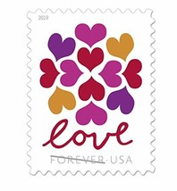 USPS Hearts Blossom Love Forever Stamps 2019 (2 Sheets, (2 Sheets, 40 St... - $37.57