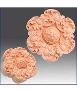 2D Silicone Soap/Plaster/Polymer clay Mold – Flower & Curled Leaf Rosette - $25.74