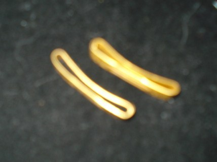 "Two Little 1"" Gold Clips Marked With a + and a Star"
