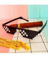 Thug life sunglasses 8 bit pixels it funny toy april fool emoji spoof glasses 8 thumbtall