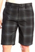 Quiksilver Men's Casual Dress Walking Shorts Black Plaid  Sz 30 32 34 ret-$49.50 - $25.91
