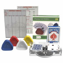 Bridge Card Game Gift Set [ 2 decks, 4 Holders, 1 Score Pad, 1 Game Instruction) - $29.99
