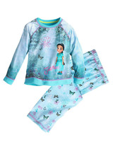 Disney Store Girls Jasmine - Aladdin - Long Sleeve PJ Pajama Gift Set, Blue - $19.99