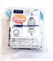 Pack of 6 Jumbo Hanging Sealed Compressed Vacuum Outerwear Storage Bags ... - $33.75