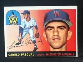 1955 Topps Baseball Card #84 CAMILO PASCAUL - Washington Nationals - $3.91