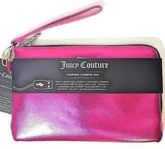 Juicy Couture Wristlet Phone Charging Pink Large Bag Travel Charger - $32.66