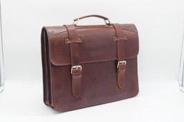 New Leather Men's Briefcase Bag Leather Laptop Bag High Quality Pure Leather - $178.19