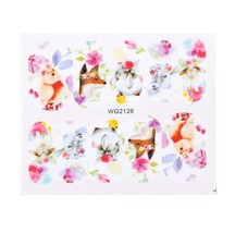 HS Store - 1Pcs WG-2126 Flower Designs Nail Sticker Water Transfer DIY - $2.23