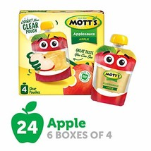 Mott's Applesauce, 3.2 Ounce Pouch, 4 Count Pack of 6