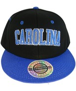 City Hunter Carolina Men's Adjustable Snapback Baseball Cap Black/Blue - $9.95
