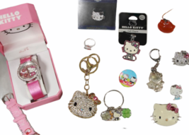 Large Sanrio Hello Kitty Assorted Jewelry Accessories Lot Watch Necklace Bank image 6