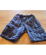 Toddler Size 5T Blue Green Gray Plaid Cargo Summer Shorts Horse Logo EUC  - $9.00