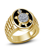 Mens Tortoise Embossed Wedding Anniversary Pinky Ring 14k Gold Finish 92... - £77.07 GBP