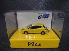 TOYOTA Vitz  Yaris LED Light Keychain Yellow Pull Back Mini Car - $23.08