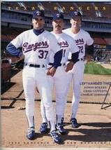 1993 Texas Rangers Souvenir Program Minnesota Twins Baseball Kenny Rogers - $19.80