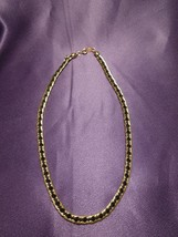 Triferi Gold & Black Necklace Braided Style Necklace - $40.10