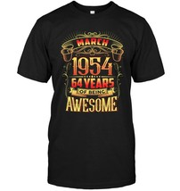 March 1954 64th Birthday 64 Years Old Gift T Shirt - $17.99+