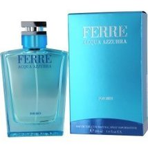 FERRE ACQUA AZZURRA EDT SPRAY 3.4 OZ MEN by Gianfranco Ferre - $37.67