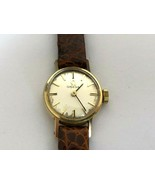 Vintage OMEGA 14K 585 Solid Gold Mechanical cal.484 17 Jewels Ladie`s Watch - $338.82