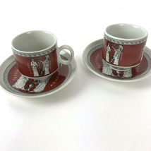 Athena Aohna Demitasse Espresso Cup & Saucer Made In Greece Goddess 4pc vtg - $19.79