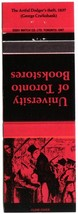 Ontario Matchbook Cover University Of Toronto Bookstores Red Artful Dodg... - $1.89